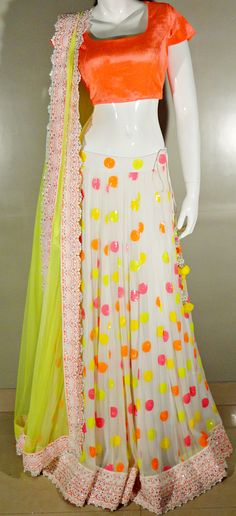 Indian# Bollywood Fashion# Neon# Ghagra Choli# Vitamin by Sonalika# Sonalika Pradhan