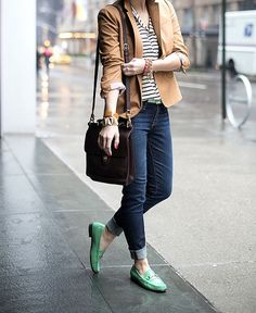 mint, stripes, camel
