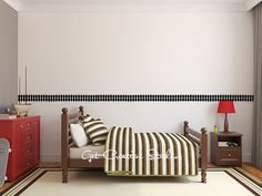 Train Decal Tracks  Set of 5  Over 9 Feet by GetCreativeStudios