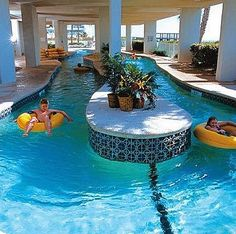40 Inspiring Lazy River Pool Design Ideas - adney news Luxury Swimming Pools, Luxury Pools, Dream Pools, Swimming Pool Designs, Lazy River Pool, Backyard Lazy River, Backyard Pools, Pool Decks, Pool Landscaping