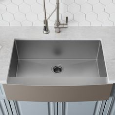 Kitchen Sink Remodel L x W Farmhouse Kitchen Sink with Drain Assembly - Complete your kitchen with this stylish farmhouse sink, featuring a deep design, bottom grid, and stainless steel frame. Farmhouse Aprons, Farmhouse Sink Kitchen, Country Kitchen, Farmhouse Decor, Stainless Steel Farmhouse Sink, Country Décor, Farm Sink, Kitchen Wood, Farmhouse Design