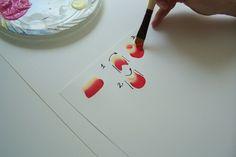 Урок декоративной росписи.5. Следующее упражнение. Точно такая же дуга, только выгнутая в обратную сторону. Сделав два упражнения вместе, мы получаем простейший элемент - розу:
