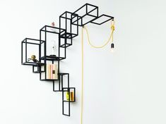 Wire wall mounted bookcase