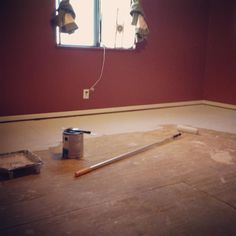 Kilzing the floors before we get new carpet. Can't wait until we live in a #tinyhouse!! by mollyorendorff