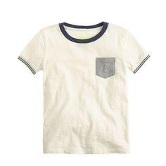 J.Crew - Boys' tipped-sleeve ringer T-shirt