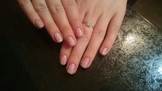 Cnd shellac Blush teddy with ice vapour on top