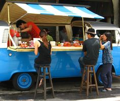 my dream. Owning a mobile espresso business out of a vw bus. Only my vw will be…
