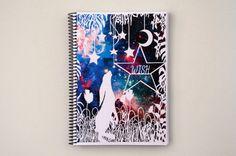 Spiral Notebook - Wish - Star Gazing Hare - Inspirational Quote - Lined Pages - A5 notebook #Paper  #Stationery  #Notepads  #SpiralNotebook  #StarGazingHare  #InspirationalQuote  #A5Notebook #IllustratedJournal  #WishArtwork  #PapercutArt  #SpiralBound  #BacktoSchool  #WoodlandArtwork  #GalaxyArt  #MoonandStars #QuoteNotebook