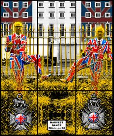 Things Of Interest - iheartmyart: Gilbert & George, Harvest Dance, 2008 Gilbert & George, Mixed Media Collage, Stained Glass Windows, Plymouth, Contemporary Artists, New Art, Art Projects, Art Gallery, Pictures