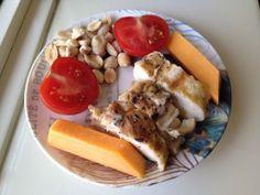 chicken, cheese, tomato, peanuts