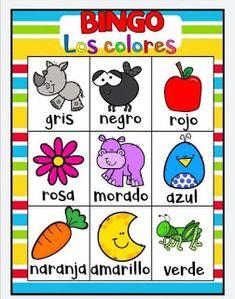Juego bingo de los colores para aprender los colores juego-bingo-colores Spanish Lessons, Teaching Spanish, Color Activities, Toddler Activities, Bilingual Education, Valentines For Kids, Diy For Kids, Kids Learning, Kindergarten