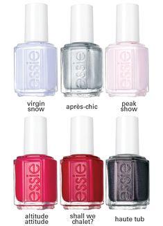 Essie Nail Polish Colors, Nail Polish Blog, Nail Colors, Gorgeous Nails, Pretty Nails, Wholesale Nail Supplies, Snow Nails, Fall Collection, Nail Supply
