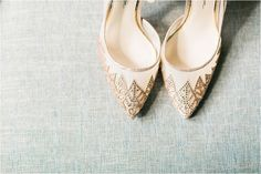 Rose gold wedding shoes | Oldfield Plantation Wedding Photos in OKatie SC by Catherine Ann Photography