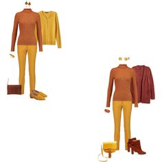 Rust sweater/mustard pants 2 by tracy-gowen on Polyvore featuring мода, Just Cavalli, Banana Republic, Raoul, Sole Society, Office, Steven, Kabella Jewelry, Palm Beach Jewelry and Kenneth Jay Lane