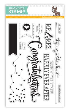 Simon Says Clear Stamps CONGRATULATIONS sss101530 at Simon Says STAMP!