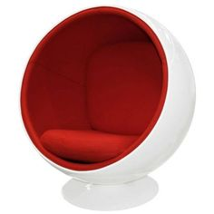 Fauteuil Ball Chair blanc style Eero Aarnio