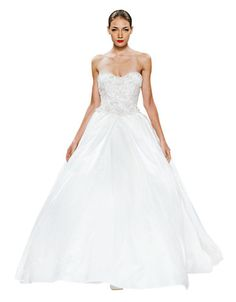 Brands | Wedding Gowns | Sweetheart Ball Gown in Satin | Hudson's Bay Hudson Bay, One Shoulder Wedding Dress, Wedding Gowns, Ball Gowns, Satin, Bridal, Fashion, Wedding Gowns With Sleeves, Ballroom Dress