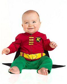 Baby One Piece Caped Robin Costume - Batman - Spirithalloween.com