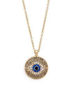 so so good - our new evil eye disc pendant!