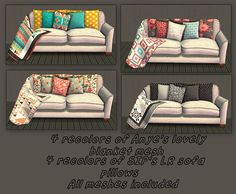 Betsy's Anye Blankets & SIP Sofa Pillows