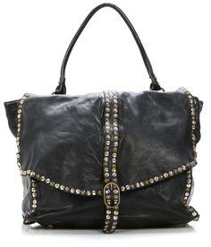 Rock 'n' Roll Style ✯ Campomaggi Gucci Handbags, Tote Handbags, Leather Handbags, Leather Bag, Black Leather, My Bags, Purses And Bags, Boho Bags, Cute Purses