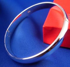 Beautiful .925 Sterling Silver Bangle Bracelet Jewelry Ladies Girls Any Occasion #Bangle