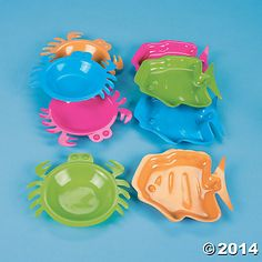 Plastic Crab And Fish Serving Dishes