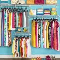 Beautifully Organized Clothes Closet