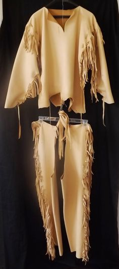 Buckskin Leather Outfit Native American Style by SpottedEagleArt