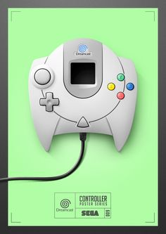 Personal work.Illustrations of nine game controllers.