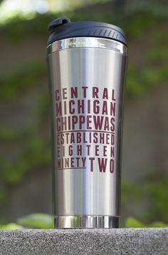 Central Michigan Chippewas Established Eighteen Ninety Two 18oz Tumbler