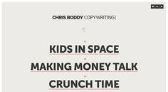 CHRIS BODDY - COPYWRITING