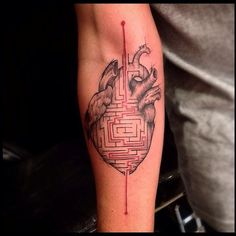 heart by Victor Montaghini | tattoo artist – Sao Paulo, Brazil