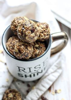 Get in a boost of caffeine with these Dirty Chai Energy Balls. Gluten-free and vegan-friendly plus one bowl and no food processor needed!