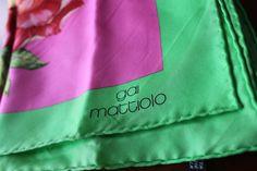 Gai Mattiolo vintage silk scarf gorgeous by FloandKateVintageUK