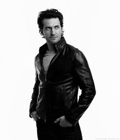 Richard Armitage in an amazing leather jacket.