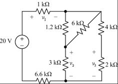 Voltage Divider PROBLEM(2) : Use voltage division to find the current i through the 30 kΩ resistor and the voltage v across the 6 kΩ resistor.