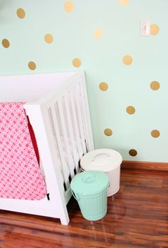 Cuckoo 4 Design: Another Cute Gold Polka Dot Room Project