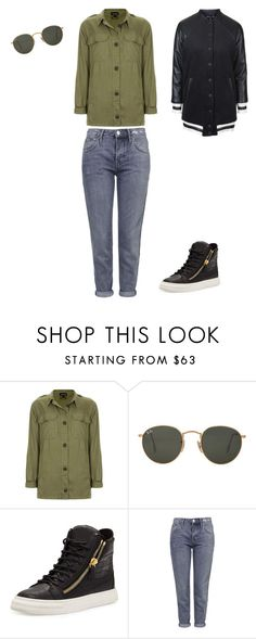 """""""Untitled #108"""" by doda-laban on Polyvore featuring Topshop, Ray-Ban and Giuseppe Zanotti"""