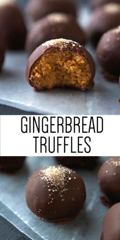 Gingerbread Truffles!!! Only 3 ingredients needed :D :D :D