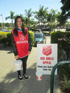 Samford Leo Club, Australia - Leos participated in the Salvation Army Red Shield Appeal 2013 by volunteering their time to collect for this worthy cause.