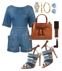A fashion look from July 2017 featuring blue jumpsuit, buckle shoes and kate spade purses. Browse and shop related looks. Denim Fashion, New Fashion, Fashion Sets, Autumn Fashion, Fashion Outfits, Womens Fashion, Street Fashion, Casual Wear, Casual Outfits