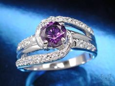 Capri Jewelers Arizona ~ www.caprijewelersaz.com  Amythest Ring- my birthstone