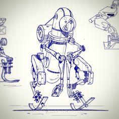 Robot Sketch, Matt Tkocz on ArtStation at https://www.artstation.com/artwork/robot-sketch-d10865d5-8200-42d2-a2b7-03c78c4d6b35