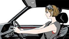 江口寿史 x NEW PEUGEOT 208 GTi TIME DRIVER (2)