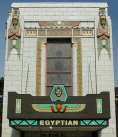 The Egyptian Theatre,DeKalb,Ill ~ A 1929, fully restored, Egyptian Art Deco movie palace, operated and maintained by P.E.T. Inc. (Preservation of the Egyptian Theatre) a non-profit organization. Listed on the National Registry of Historic Places, the Egyptian is home to 25+ community groups that utilize the theatre every year and the theatre continues to show movies (classic & family films along with film festivals).