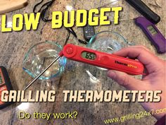 Low budget grilling thermometers - Check out the affordable versions of the Thermapen!