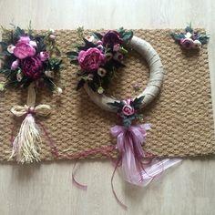 Çiçekli kapı süsü paspas set sipariş alınır