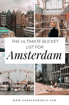 Bucket list things to do in Amsterdam – Best Europe Destinations Europe Travel Guide, Europe Destinations, Travel Guides, Travel Deals, Travel Hacks, Europe Budget, Europe Packing, Traveling Europe, Backpacking Europe