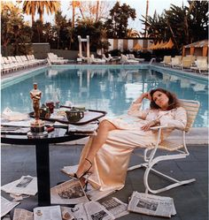 Faye Dunaway in Vanity Fair, the morning after winning a Best Actress Oscar for Network in 1977